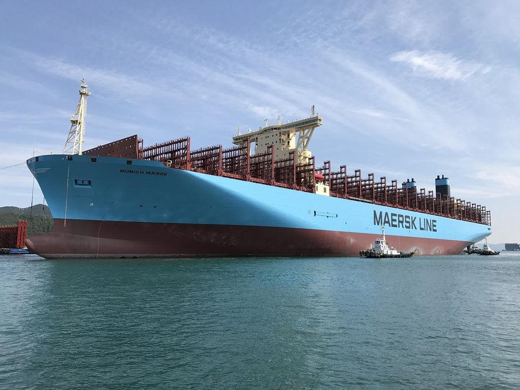 Maritime un g ant des mers se dirige vers le maroc - Le plus gros porte conteneur de chez maersk ...